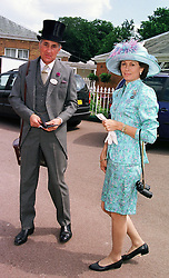 MR & MRS HUGH VAN CUTSEM good friends of HRH Prince Charles, at Royal Ascot on 16th June 1999.MTH 53