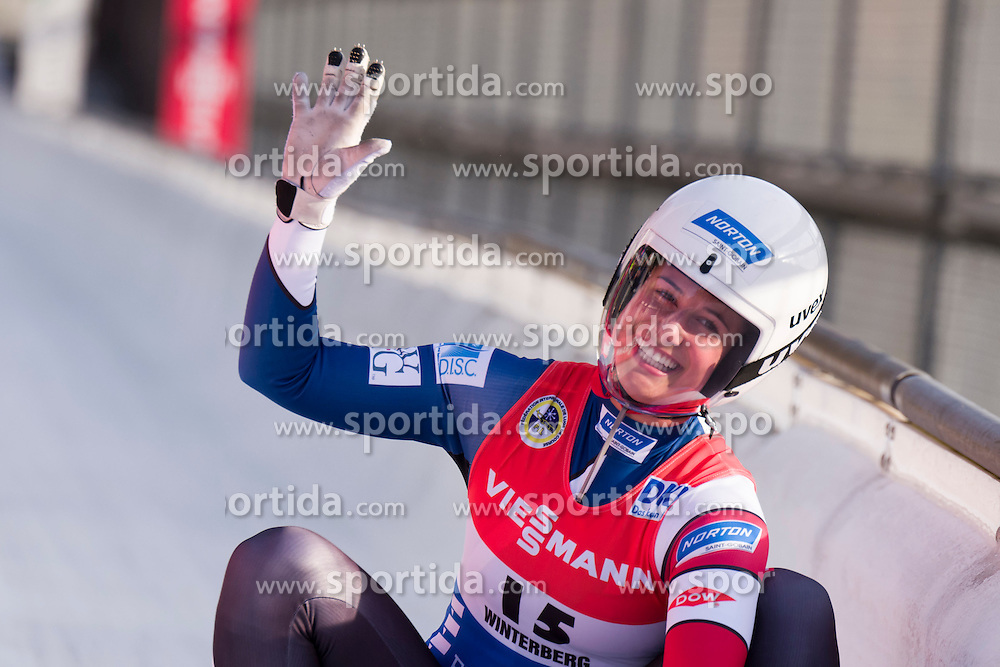 26.11.2016, Winterberg, GER, Viessmann Rennrodel Weltcup, Winterberg, Damen, Einsitzer, im Bild Emily Sweeney USA // during women's single seater of Viessmann Luge World Cup. Winterberg, Germany on 2016/11/26. EXPA Pictures &copy; 2016, PhotoCredit: EXPA/ Rolf Kosecki<br /> <br /> *****ATTENTION - OUT of GER*****