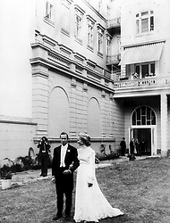 Prince and Princess Michael of Kent (Baroness Marie Christine von Reibnitz), after their civil wedding ceremony at Vienna Town Hall, ready for their evening reception.