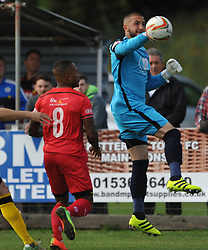 HAFED ALDROUBI GOALKEEPER  CHESHAM UNITED, Kettering Town v Chesham United FC Evo stick <br /> Southern League Premier, Latimer Park Saturday 23rd September 2017