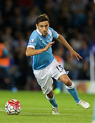 WEST BROMWICH, ENGLAND - Monday, August 10, 2015: Manchester City's Jesus Navas in action against West Bromwich Albion during the Premier League match at the Hawthorns. (Pic by David Rawcliffe/Propaganda)