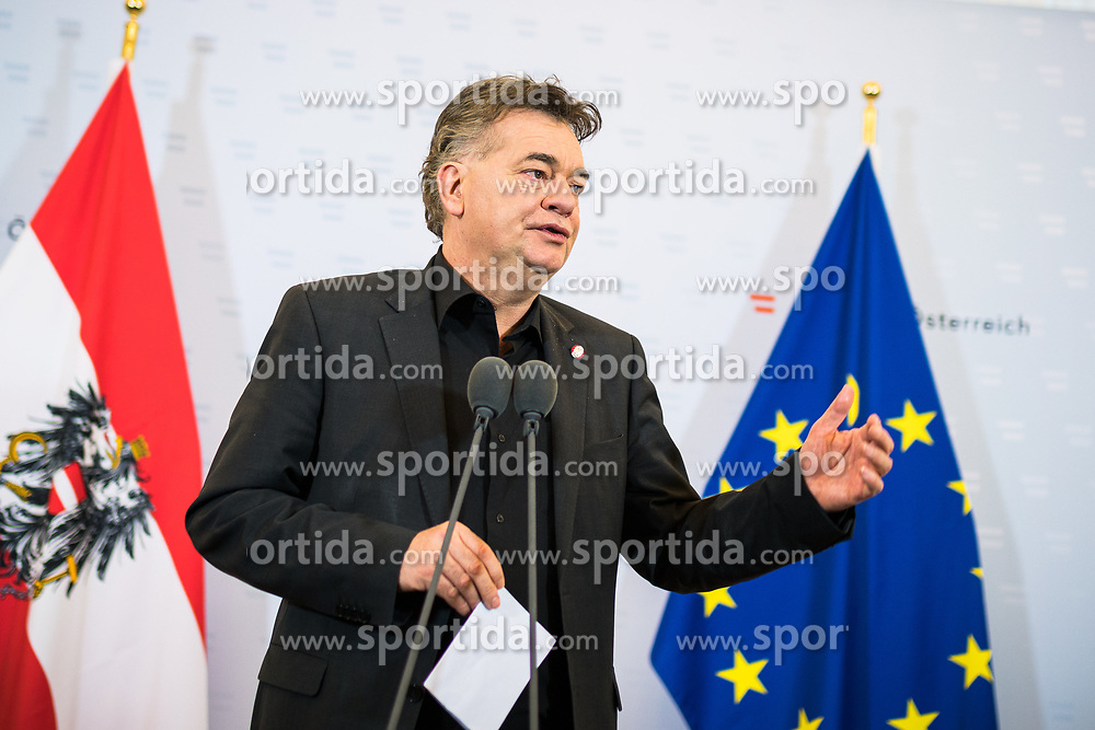 15.01.2020, Bundeskanzleramt, Wien, AUT, Sitzung des Ministerrats, im Bild Werner Kogler (Gruene)// cabinet meeting at the federal chancellery in Vienna, Austria on 2020/01/15. EXPA Pictures © 2020, PhotoCredit: EXPA/ Florian Schroetter