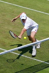 LONDON, ENGLAND - Monday, June 28, 2010: Kenneth Skupski (GBR) during the Gentlemen's Doubles 2nd Round match on day seven of the Wimbledon Lawn Tennis Championships at the All England Lawn Tennis and Croquet Club. (Pic by David Rawcliffe/Propaganda)