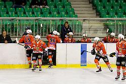 Players of Rittner Baum during hockey match between HK SZ Olimpija (SLO) and Rittner Buam (ITA) in 1st round of Alps Hockey League 2017/18, on September 13, 2017 in Tivoli, Ljubljana, Slovenia. Photo by Urban Urbanc / Sportida