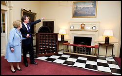 British Prime Minister David Cameron talks to former Prime Minister Baroness Thatcher inside Number 10 Downing Street, Tuesday June 8, 2010. Photo By Andrew Parsons/ i-Images