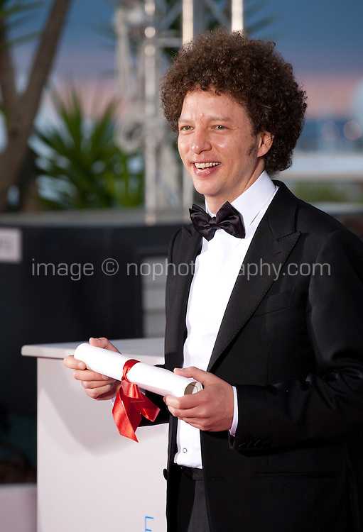 Director Michel Franco, winner of the Best Screenplay Prize for the film Chronic at the Palm D'Or award winners photo call at the 68th Cannes Film Festival Sunday May 24th 2015, Cannes, France.