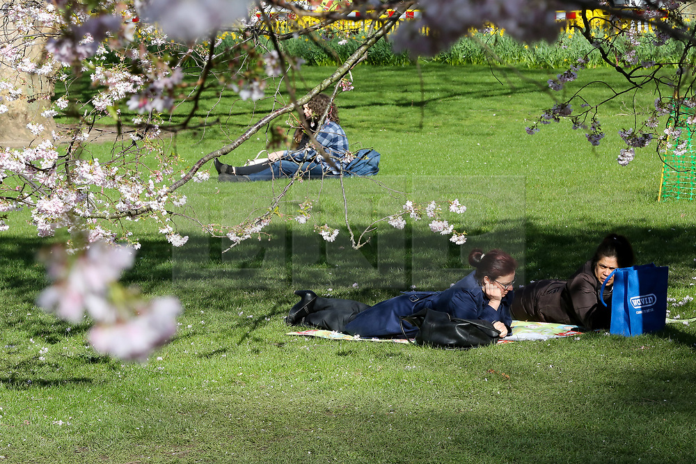 © Licensed to London News Pictures. 16/03/2020. London, UK. People enjoy warm sunshine in St James's Park. Due to Coronavirus spread in London, less people are visiting parks to avoid crowded area. Photo credit: Dinendra Haria/LNP