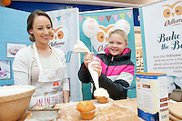 Armed with their brand new no mess flour tubs, The Odlums Roadshow came to Galway Shopping Centre on Saturday. Shoppers queued up to watch icing demo's, win Odlums goodies and taste the delicious Odlums cakes. The Great Irish Bakeoff sponsored by Odlums had contributed to a renewed interest in baking nationwide' . At the event was Doireann Gately Odlums and Aoife Buckley, Corrib park.  Photo:Andrew Downes.