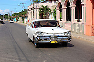 Old American car in San Antonio de Rio Blanco, Mayabeque Province, Cuba.