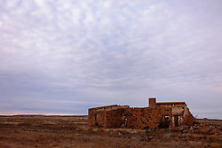 Ruins of an old cattle station on the gibber plains of Australia's outback, Northern Territory,  Australia