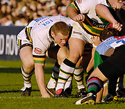 Twickenham. GREAT BRITAIN, Saints and Captian and No.7 Darren FOX, packs down, during the, Guinness Premiership game between, NEC Harlequins and Northamption Saints, on Sat., 04/11/2006, played at the Twickenham Stoop, England. Photo, Peter Spurrier/Intersport-images].....