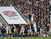 Twickenham, United Kingdom, Game action, line out, 2013 QBE Autumn Rugby International, England vs New Zealand, played  Saturday  16/11/2013 at the RFU Stadium Twickenham, England. [Mandatory Credit: Peter Spurrier/Intersport<br /> Images}