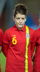 NEWTOWN, WALES - Friday, February 1, 2013: Wales' Angharad James lines up before the Women's Under-19 International Friendly match against Norway at Latham Park. (Pic by David Rawcliffe/Propaganda)