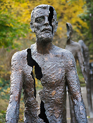 Sculptures at Memorial to the Victims of Communism in Mala Strana in Prague in Czech Republic
