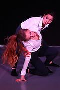 Mannheim. 10.02.17 | BILD- ID 086 |<br /> Dance Professional Mannheim zeigt eine Jahres-Show, in der sich junge Tanztalente präsentieren, die sich momentan auf eine Tanzausbildung vorbereiten.<br /> - Clara Niehl, Lea Preiss<br /> Bild: Markus Prosswitz 10FEB17 / masterpress (Bild ist honorarpflichtig - No Model Release!)