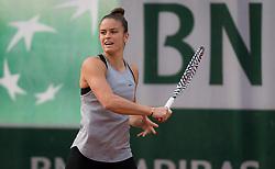 May 22, 2019 - Paris, FRANCE - Maria Sakkari of Greece during practice at the 2019 Roland Garros Grand Slam tennis tournament (Credit Image: © AFP7 via ZUMA Wire)