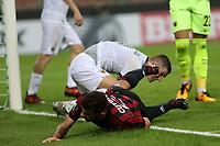 Milano - 19.10.2017 - Milan-AEK Atene - Europa League   - nella foto:   Patrick Cutrone deluso a terra