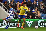 Tyler Roberts (11) of Leeds United on the attack during the The FA Cup 3rd round match between Queens Park Rangers and Leeds United at the Loftus Road Stadium, London, England on 6 January 2019.