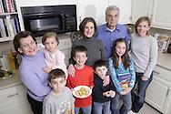 (from left, back row) Evan Valassiades, Mia Bonanno, Maria Kopan, John Valassiades and Joannie Bonanno (from left, front row) Sam Bonanno, John Kopan, Grant Kopan and Katie Kopan, Monday, March 24, 2008.