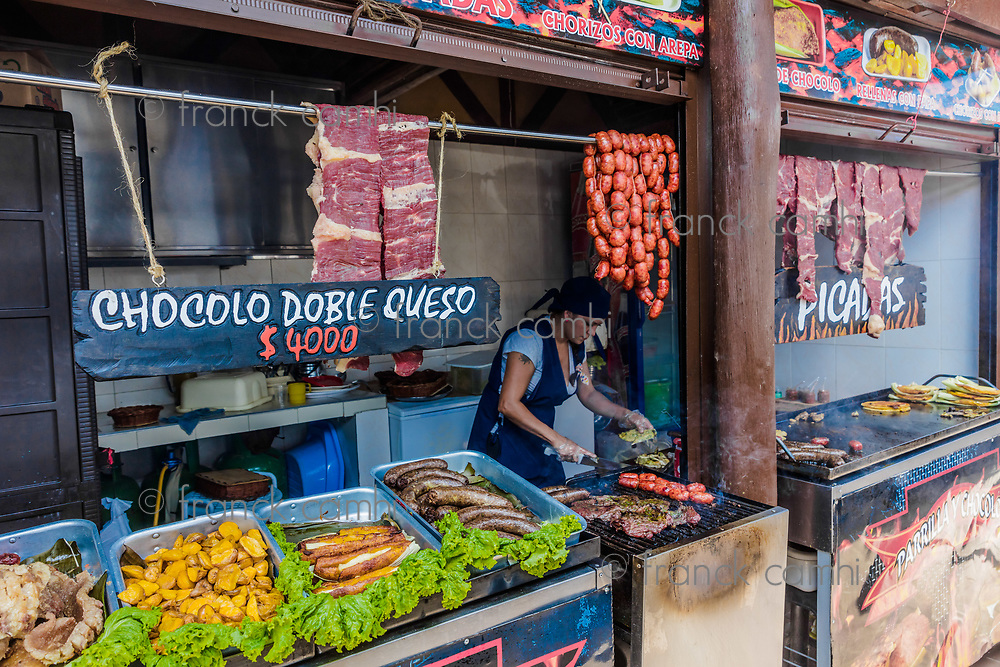 Los Santos , Colombia  - February 12, 2017 : Mercado Campesino de Acuarela at Los Santos Santander in Colombia South America