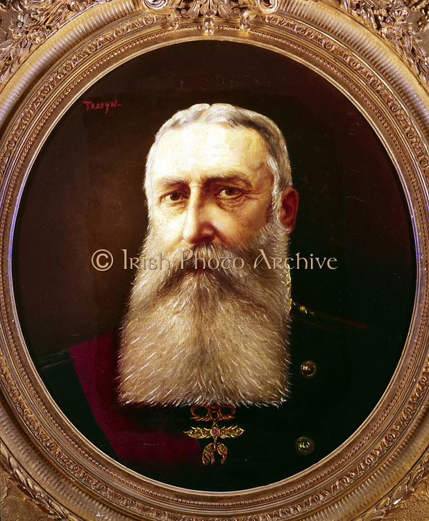 Leopold II (1835-1909) King of Belgium from 1865. Portrait by Pierre Tossyn.