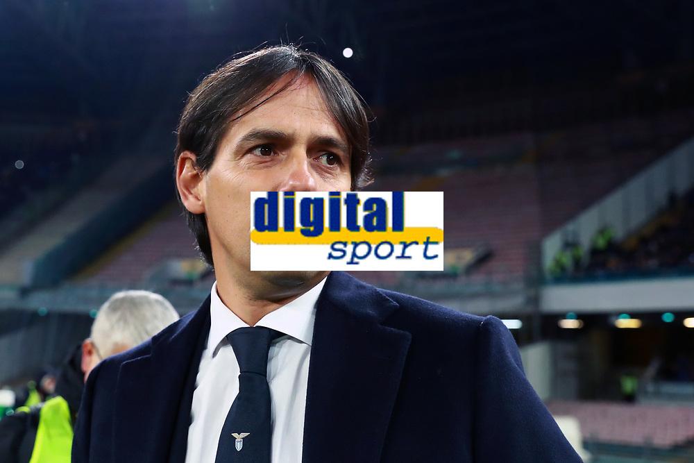 Simone Inzaghi Lazio<br /> Napoli 10-02-2018  Stadio San Paolo <br /> Football Campionato Serie A 2017/2018 <br /> Napoli - Lazio<br /> Foto Cesare Purini / Insidefoto