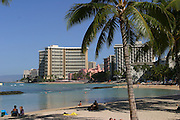 Waikiki Beach, Waikiki, Oahu, Hawaii, USA<br />