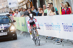 Harald Totschning (AUT) of Tirol Cycling Team competes during Stage 1of  cycling race 20th Tour de Slovenie 2013 - Time Trial 8,8 km in Ljubljana,  on June 12, 2013 in Slovenia. (Photo By Vid Ponikvar / Sportida)