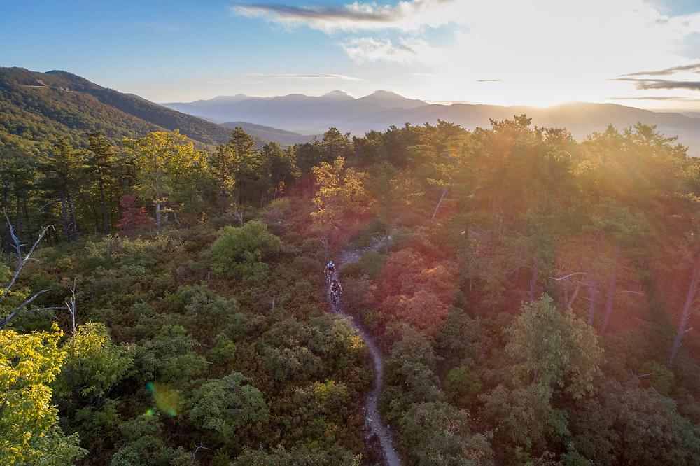Mountain biking in Roanoke, VA.