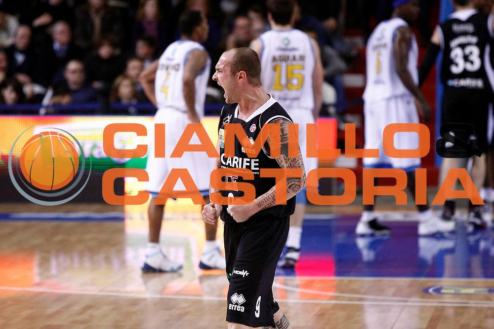 DESCRIZIONE : Cremona Lega A 2009-10 Vanoli Cremona Carife Ferrara<br /> GIOCATORE : Valerio Spinelli<br /> SQUADRA : Carife Ferrara<br /> EVENTO : Campionato Lega A 2009-2010 <br /> GARA : Vanoli Cremona Carife Ferrara<br /> DATA : 13/02/2010<br /> CATEGORIA : Ritratto Esultanza Super<br /> SPORT : Pallacanestro <br /> AUTORE : Agenzia Ciamillo-Castoria/G.Cottini<br /> Galleria : Lega Basket A 2009-2010 <br /> Fotonotizia : Cremona Campionato Italiano Lega A 2009-2010 Vanoli Cremona Carife Ferrara<br /> Predefinita :