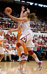 December 19, 2009; Stanford, CA, USA;  Stanford Cardinal forward Kayla Pedersen (14) during the first half against the Tennessee Lady Volunteers at Maples Pavilion.  Stanford defeated Tennessee 67-52.