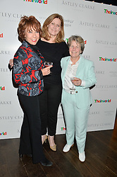 Left to right, KATHY LETTE, SARAH BROWN President of Theirworld and SANDI TOKSVIG at a party to celebrate the Astley Clarke & Theirworld Charitable Partnership held at Mondrian London, Upper Ground, London on 10th March 2015.