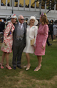 Princess Corinna Sayn-Wittgenstein;, Winston Churchill ; Mrs. Martin Gruss;  Kate Elaessens,  Ascot, Tuesday 15 June 2004. ONE TIME USE ONLY - DO NOT ARCHIVE  © Copyright Photograph by Dafydd Jones 66 Stockwell Park Rd. London SW9 0DA Tel 020 7733 0108 www.dafjones.com
