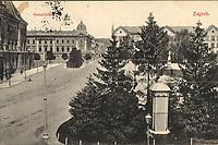Zagreb : Sveučilštni trg. <br /> <br /> Impresum[S. l. : s. n., 1912].<br /> Materijalni opis1 razglednica : tisak ; 9 x 14 cm.<br /> Vrstavizualna građa • razglednice<br /> ZbirkaZbirka razglednica • Grafička zbirka NSK<br /> Formatimage/jpeg<br /> SignaturaRZG-TMT-33<br /> Obuhvat(vremenski)20. stoljeće<br /> NapomenaPutovala je 1912. godine<br /> PravaJavno dobro<br /> Identifikatori000945388<br /> NBN.HRNBN: urn:nbn:hr:238:346341 <br /> <br /> Izvor: Digitalne zbirke Nacionalne i sveučilišne knjižnice u Zagrebu