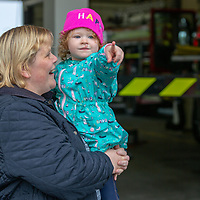 Nicole Joyce with her daughter Sophie, from Shannon look at the Fire Engines on show at the Shannon Fire and Rescue Service Open Day