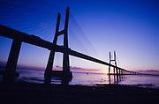 Vasco da Gama Bridge at sunrise.