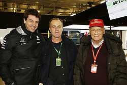 April 7, 2017 - Shanghai, China - Motorsports: FIA Formula One World Championship 2017, Grand Prix of AChina, .Toto Wolff (AUT, Mercedes AMG Petronas Formula One Team), Niki Lauda (AUT, Mercedes AMG Petronas Formula One Team) (Credit Image: © Hoch Zwei via ZUMA Wire)