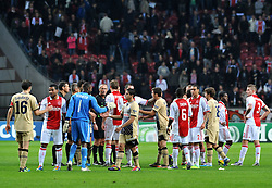 02.11.2011, Amsterdam Arena. Amsterdam, NED, UEFA Champions League, Vorrunde, Ajax Amsterdam (NED) vs Dinamo Zagreb (CRO), im Bild football players// during Ajax Amsterdam (NED) vs Dinamo Zagreb (CRO), at Amsterdam Arena, Amsterdam, NED, 2011-11-02. EXPA Pictures © 2011, PhotoCredit: EXPA/ nph/ PIXSELL/ Marko Lukunic       ****** out of GER / CRO  / BEL ******