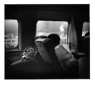 Gazing out from Shinkansen Bullet Train, passing through Shizuoka Prefecture, Japan.