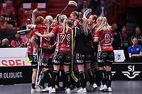 2019-04-27 | Stockholm, Sweden: KAIS Mora IF during the game between KAIS Mora IF and Täby FC IBK at Ericsson Globe Arena ( Photo by: Simon Holmgren | Swe Press Photo )<br /> <br /> Keywords: Ericsson Globe Arena, Stockholm, Floorball, SM-Final, KAIS Mora IF, Täby FC IBK