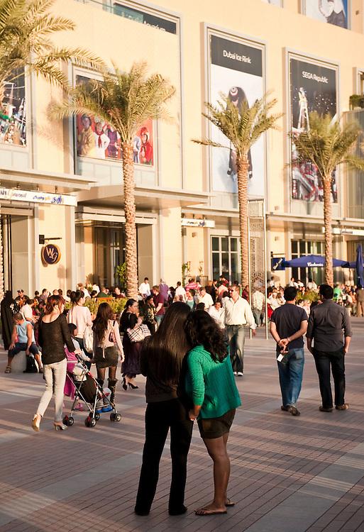 Dubai Mall, in front of the Burj Khalifa, Dubai, UAE on Friday, February 12, 2010. Archive of images of Dubai by Dubai photographer Siddharth Siva