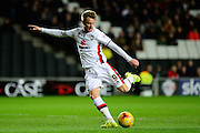 MK Dons striker Dean Bowditch opens the scoring  during the Sky Bet Championship match between Milton Keynes Dons and Middlesbrough at stadium:mk, Milton Keynes, England on 9 February 2016. Photo by Dennis Goodwin.