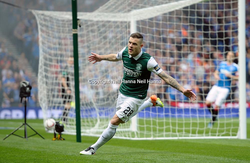 Scottish Cup Final 2016<br /> <br /> Hibernian v Rangers, Hampden Park, Glasgow
