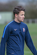 York City midfielder, on loan from Bolton Wanderers, Jordan Lussey  York City FC Training Session at Bootham Crescent, York, England on 27 November 2015. Photo by Simon Davies.
