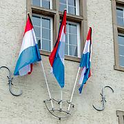 LUX/Luxemburg/20190504 -  Funeral<br /> of HRH Grand Duke Jean, Uitvaart Groothertog Jean, vlag van Luxemburg