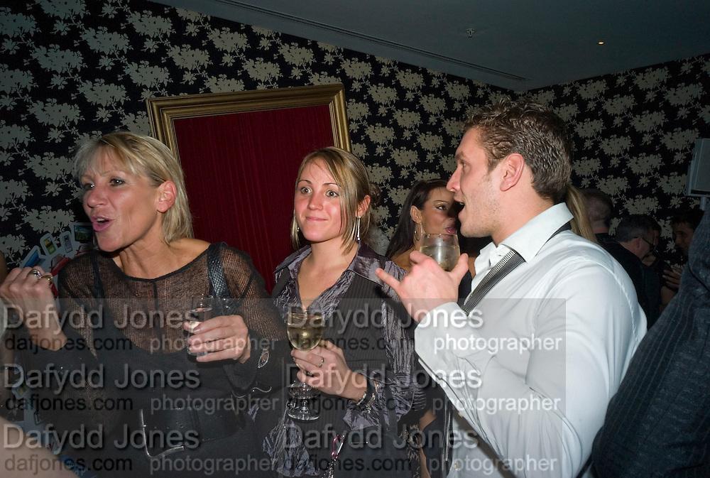 INGRID TARRANT, FIA TARRANT AND CHARLIE GREGORY, Bingo Lotto launch party. Soho Hotel Richmond Mews. London. 29 February 2008.  *** Local Caption *** -DO NOT ARCHIVE-© Copyright Photograph by Dafydd Jones. 248 Clapham Rd. London SW9 0PZ. Tel 0207 820 0771. www.dafjones.com.