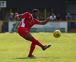 August 28, 2017 - London, United Kingdom - Elliott Kebbie of Billericay Town.during Bostik League Premier Division match between Thurrock vs Billericay Town at  Ship Lane Ground, Aveley on 28 August 2017  (Credit Image: © Kieran Galvin/NurPhoto via ZUMA Press)