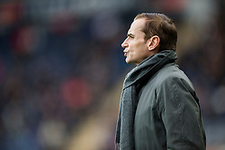 Alloa Athletic's manager Danny Lennon.  <br /> Falkirk 5 v 0 Alloa Athletic, Scottish Championship game played at The Falkirk Stadium.