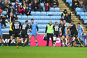Wasps hooker Tom Cruse (2) scores a try during the Aviva Premiership match between Wasps and London Irish at the Ricoh Arena, Coventry, England on 4 March 2018. Picture by Dennis Goodwin.