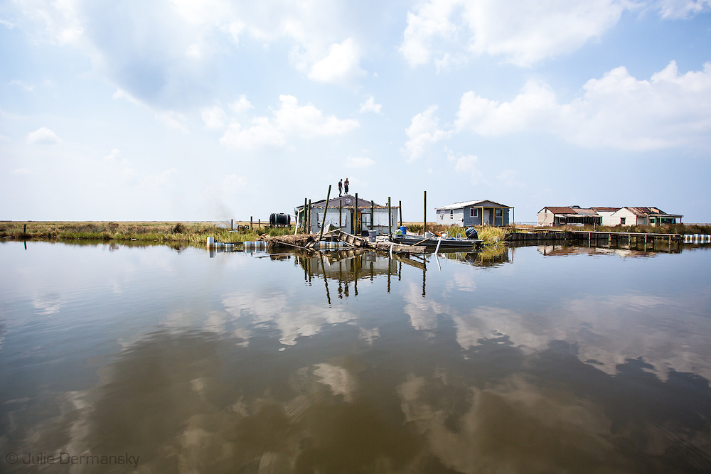 Fishing camp in Mrytle Grove damaged by Hurricane Isaac.